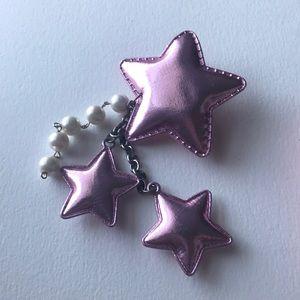 Accessories - Kawaii Pastel goth fairy kei pink star hair clip